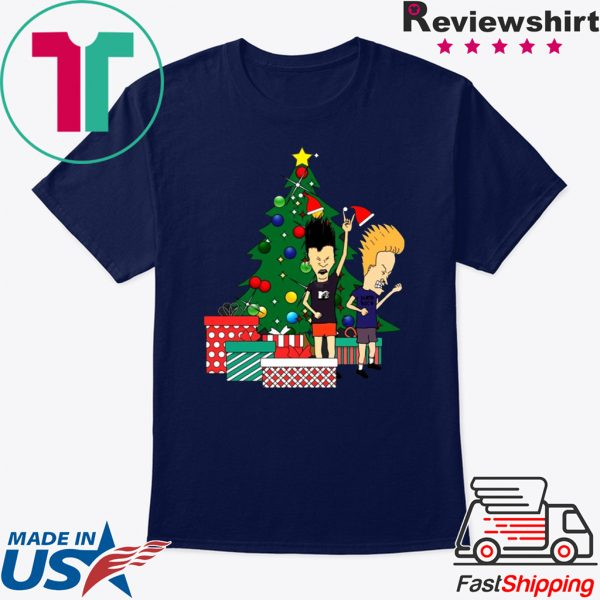 Beavis And Butthead Around The Christmas Tree Tee Shirt