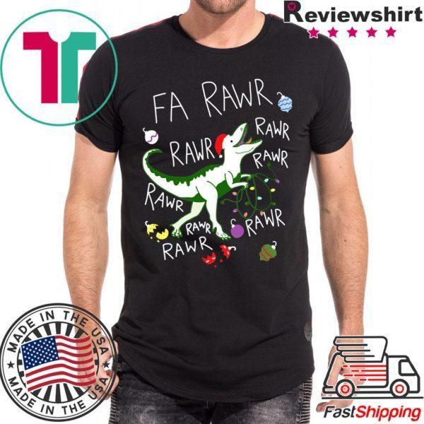 T-Rex Fa Rawr Rawr Rawr Christmas Tee Shirt