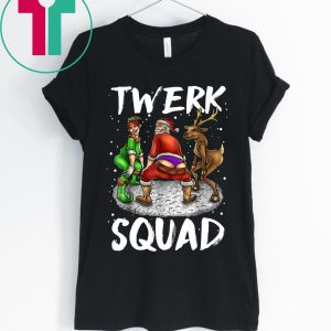 Twerk Squad Santa And Elf Twerking Christmas T-Shirts