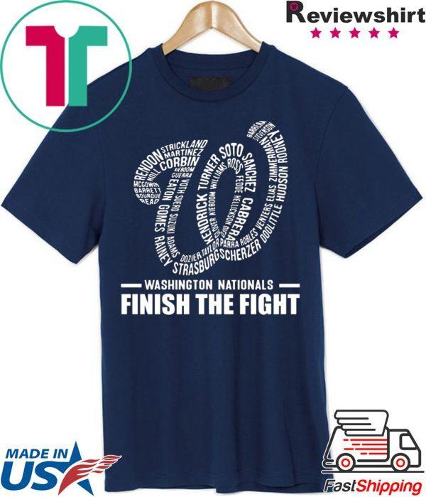 Washington Nationals Finish The Fight 2020 Shirt