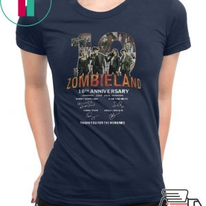 Zombieland 10th Anniversary 2009 2019 Signatures shirt