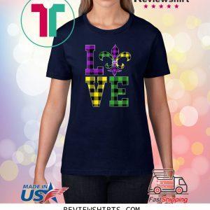 I Love Mardi Gras Buffalo Plaid Classic Shirts