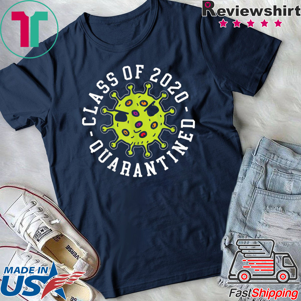 Class Of 2020 Quarantined Survived Flu Funny Meme T-Shirt New