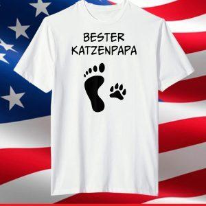 Bester Katzenpapa, Best cat dad gift fathers T-Shirt
