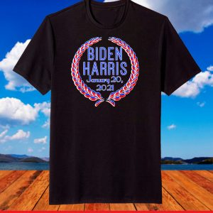 Biden Harris Inauguration 2021 Red White Blue Wreath T-Shirt