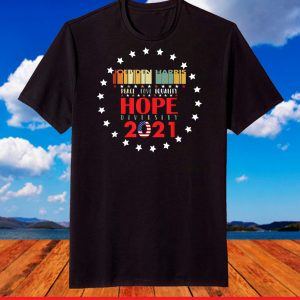 Peace Love Equality Hope Diversity Biden Harris 2020-2024 T-Shirt
