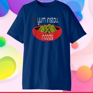 Yum Install Noods Funny Computer IT Classic T-Shirt